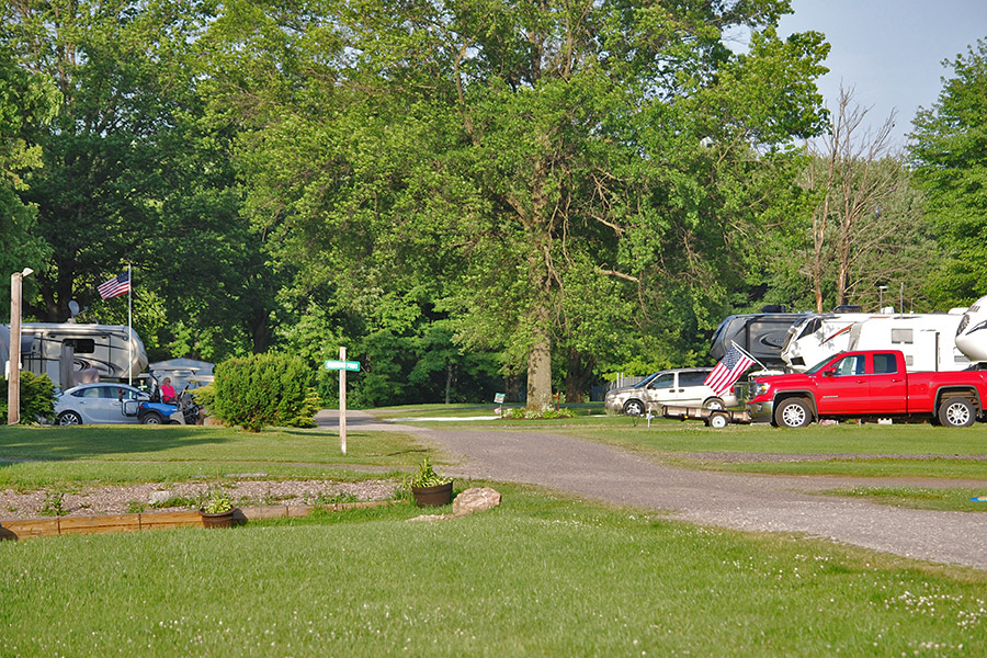Sunny and Shady RV sites