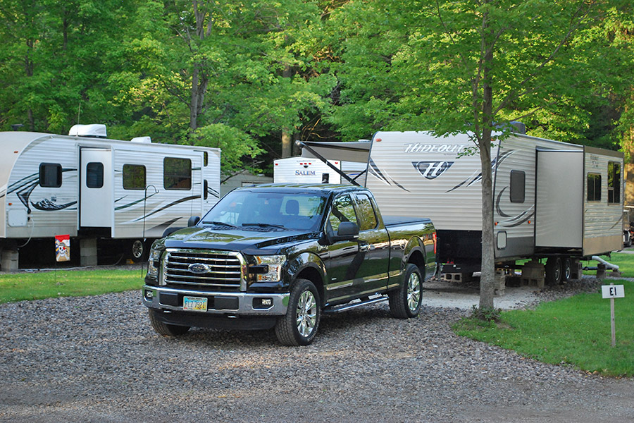 Nice RV Site Ford F150